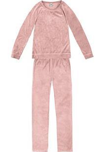 Pijama Longo Hering Básico Feminino - Feminino