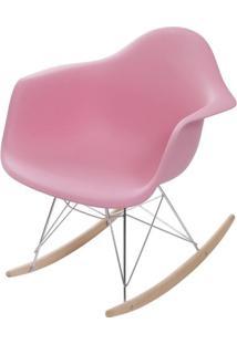 Cadeira Eames Com Braco Base Balanco Rosa - 59131 - Sun House