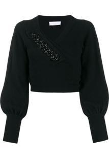 P.A.R.O.S.H. Suéter Com Transpasse - Preto