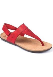 Sandália Sidewalk Anatômica Sioux - Feminino-Vermelho