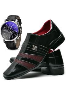 b57300e6f Dafiti. Kit Sapato Social Com Relógio Topflex Verniz ...