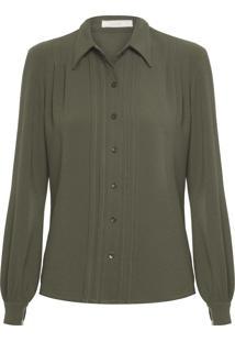 Camisa Feminina Crepe - Verde