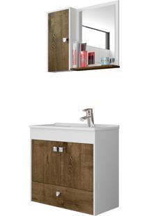 Conjunto P/ Banheiro Catar Branco Móveis Bechara