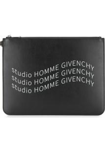 Givenchy Clutch Com Logo E Zíper - Preto