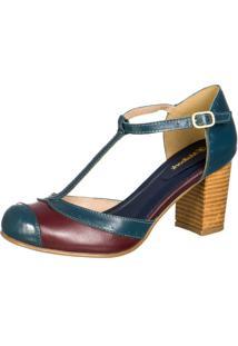 776ee1d55b Sapato Azul Marinho Boneca feminino