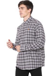Camisa Timberland Reta Rugged Check Cinza
