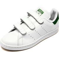 Tênis Couro Adidas Originals Stan Smith Cf Branco Verde 27e35c058bdc5