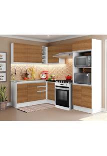 Cozinha Completa Madesa 100% Mdf Acordes De Canto (Sem Tampo E Pia) Marrom