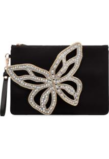 Sophia Webster Clutch Flossy Butterfly - Preto
