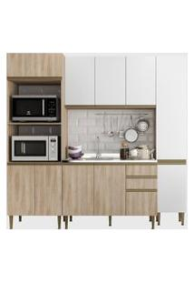 Cozinha 4 Peças C/ Paneleiro Aveiro/Bra Be Mobiliário Bege/Branco