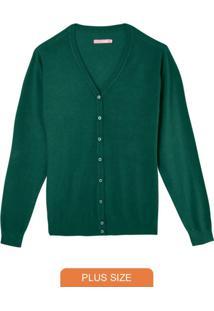 Cardigan Verde Feminino Em Tricô