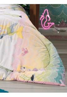 Edredom Solteiro Infantil Altenburg Branco/Rosa Claro