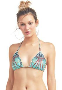 Top Cortininha Avulso Marrakesh Ripple Indigena - New Beach