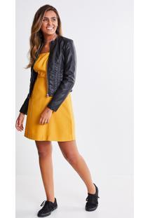 Vestido Acinturado Amarelo