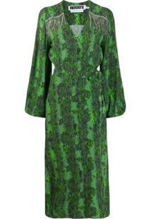 Rotate Vestido Envelope - Verde