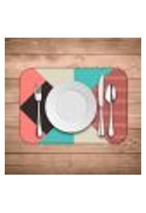 Jogo Americano Wevans Abstrato Colorfull Kit Com 2 Pçs
