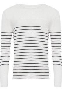 Camiseta Masculina Manga Longa - Off White