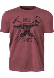 Camiseta Made In Mato Bordo