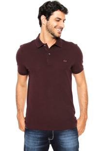 Camisa Polo Lacoste Slim Vinho