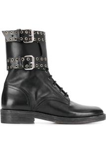Isabel Marant Ankle Boot Com Ilhós - Preto