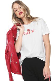 Camiseta Carmim Logo Branca