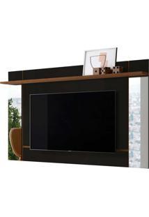 Painel Suspenso Malibu P/ Tv Até 65 Polegadas Preto Fosco/Nature Belaflex Móveis