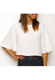 Blusa Tea Shirt Cropped Eva Off White