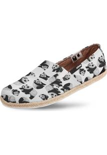 Alpargata Casual Corda Vegano Panda Usthemp Branco
