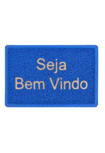 Tapete Capacho Vinil Azul 40Cm X 60Cm
