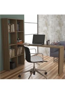 Mesa Para Computador Escrivaninha Be 38 Carvalho - Brv Móveis