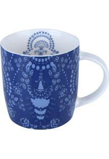 Caneca De Porcelana Azul 350Ml Provence 8245 Lyor