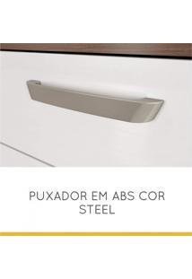 Armário De Cozinha 5 Portas 2 Gavetas Smart Nesher Móveis Branco/Madeirado