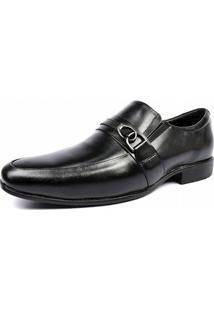 Sapato Social Shoes Grand Couro Legitimo Frascati Masculino - Masculino-Preto