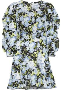 Les Rêveries Vestido Floral - Preto