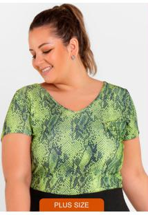 Blusa Mc Estampada Verde