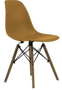 Cadeira Eames Dkr Wood Caramelo - Caramelo - Dafiti
