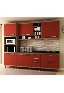 Cozinha Compacta New Vitoria 10 Pt 5 Gv Avelã Com Rubi