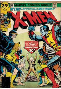 Adesivos De Parade Roommates Colorido X-Men Issue #100 Comic Cover Giant Wall Decal