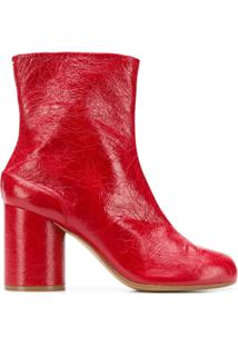 Maison Margiela Ankle Boot 'Tabi' De Couro - Vermelho