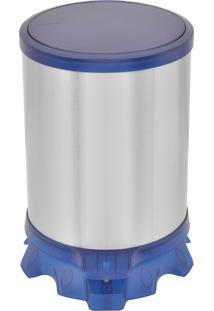 Lixeiro Com Pedal 5 Litros Tramontina 94538804 Sofie Azul