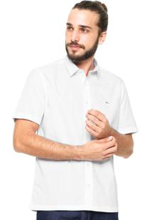 Camisa Aramis Manga Curta Slim Fit Branca