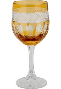 Taça De Cristal Lodz Para Vinho De 240 Ml - Âmbar Glassic