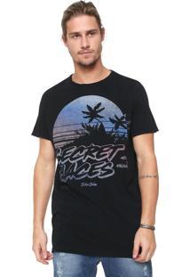 Camiseta John John Secret Places Preta