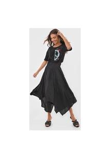 Vestido Desigual Midi Noosa Preto