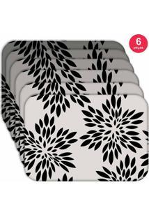 Jogo Americano Love Decor Wevans Flowers Kit Com 6 Pçs