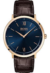 1c373f1a32d ... Relógio Hugo Boss Masculino Couro Marrom - 1513661