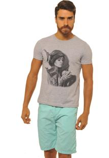 Camiseta Masculina Joss Premium New Time To Coffee Cinza