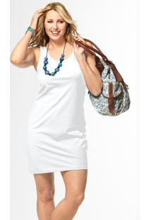 Vestido De Malha Stretch Branco