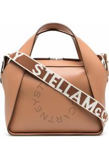 Stella Mccartney Bolsa Tote Stella Mini Com Logo - Marrom