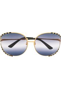 Gucci Eyewear Oversized Frame Sunglasses - Preto